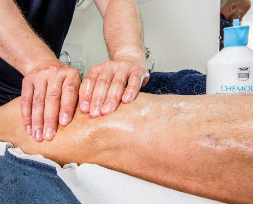 Massage of lower leg